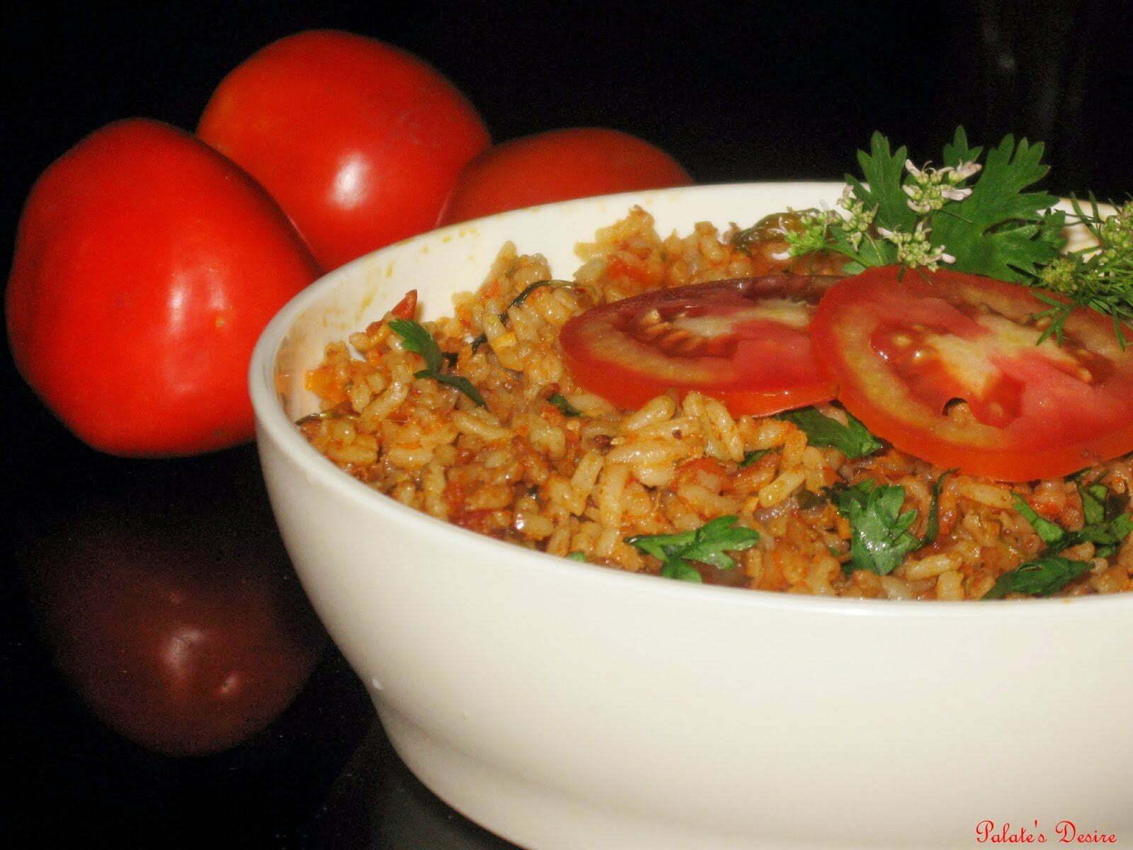 Tomato Bath | Tomato Pulao