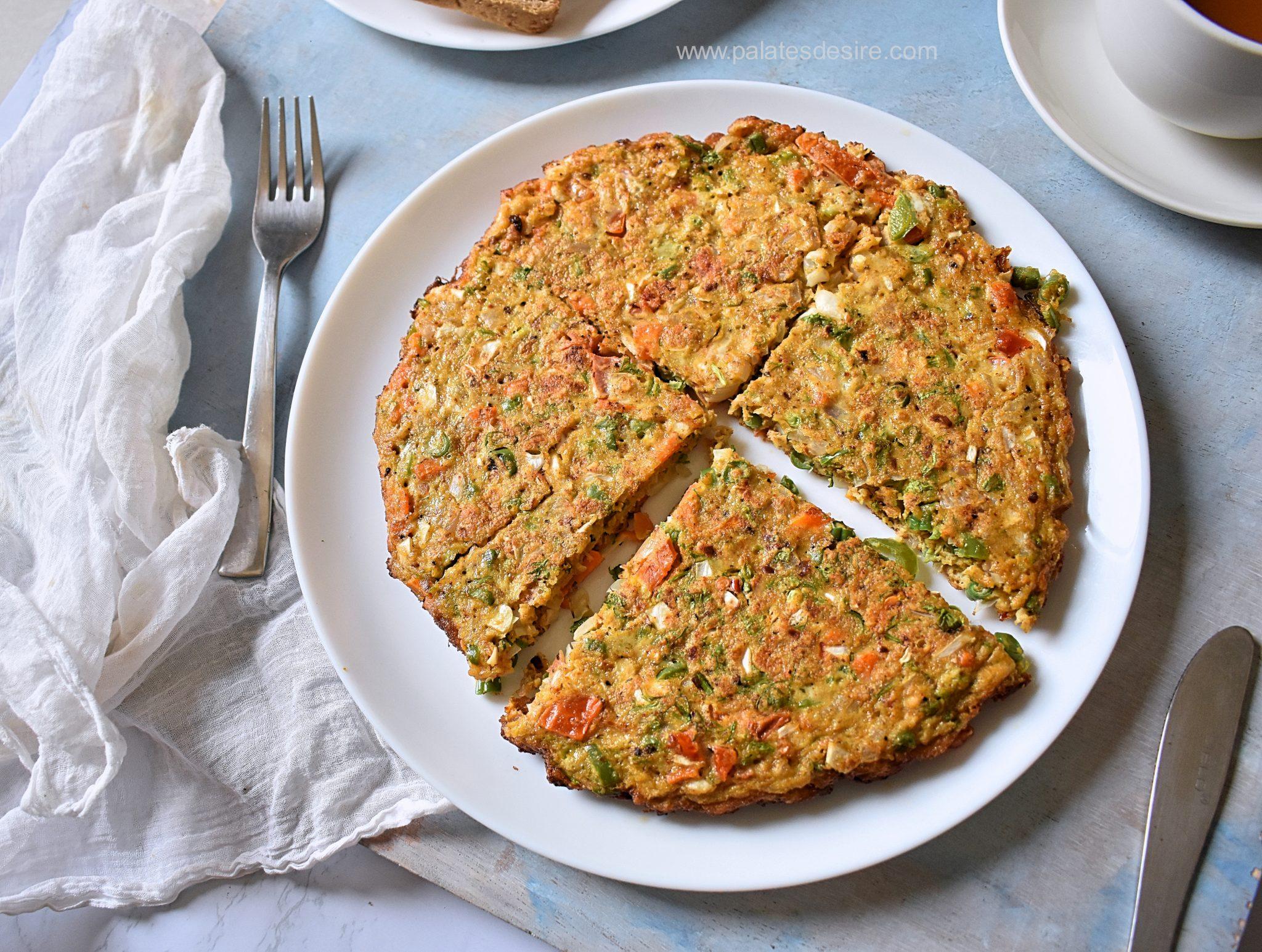 Masala Oats Omelette