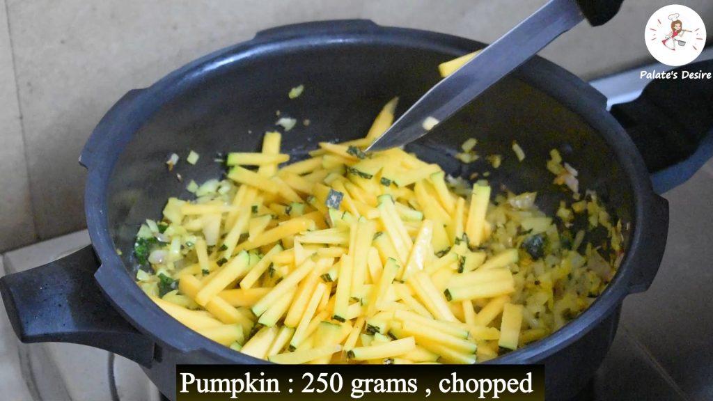 pumpkin khichdi