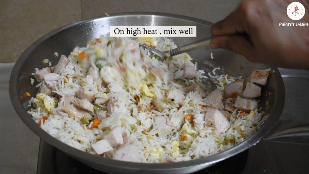 stir fry chicken with rice