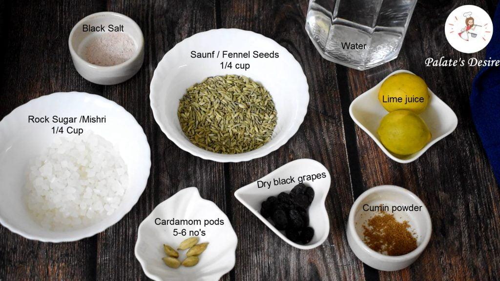 saunf sharbat ingredients