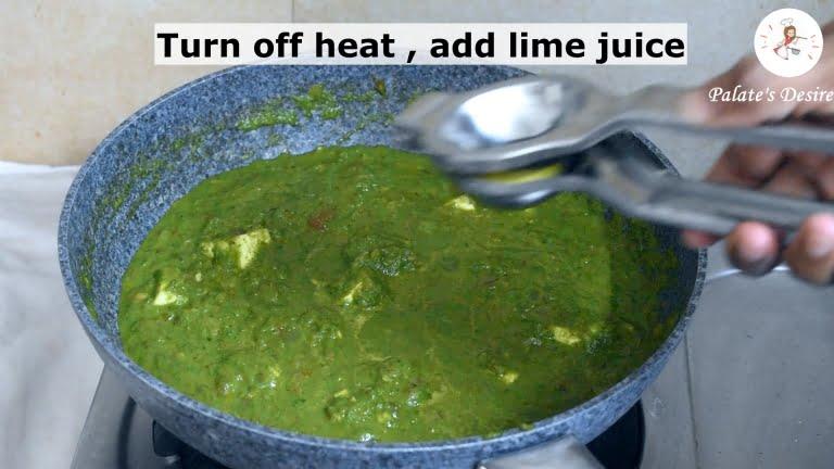 how to make palak paneer