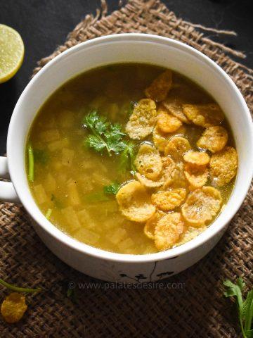 banana stem soup